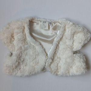 Baby Girl Faux Fur Shawl/Shrug